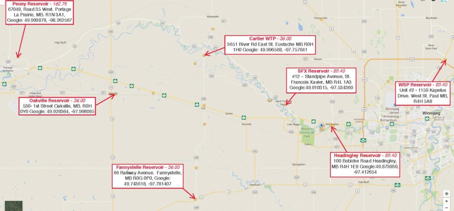 truckfill info map